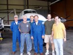 The King Air team from left to right: Dale Bowser, Rick Yasky, Chris Hostetler, Les Kagey, Tony Cook, and Scott Sims.  Not pictured: Mike Wusk, John Hair, Rich Ferrare, Dave Harper, and Mike Obland.