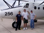 Some members of the Twin Otter team: Jesus Galvan (left) and Roy Woods, CIRPAS, and Jason Tomlinson, Texas A&M University.