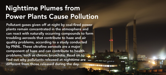 Nighttime plumes from power plants cause pollution