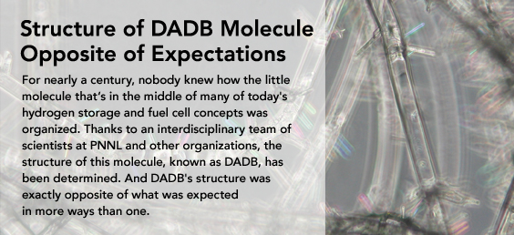 DADB Molecule Opposite than Expectations