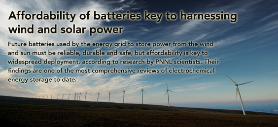 Affordability of Batteries Key to Harnessing Wind and Solar Power