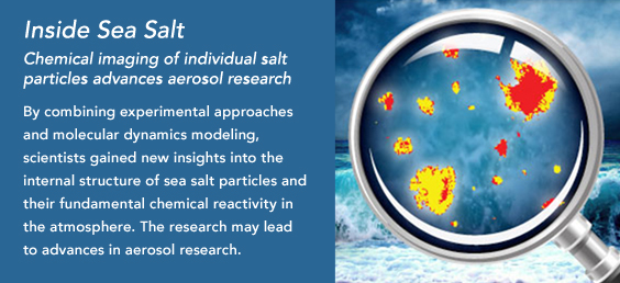 Chemical imaging of individual salt particles advances aerosol research