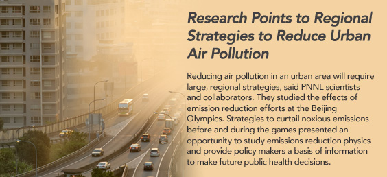 Research points to regional strategies to reduce urban air pollution