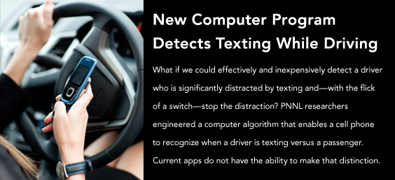 New computer program detects texting while driving