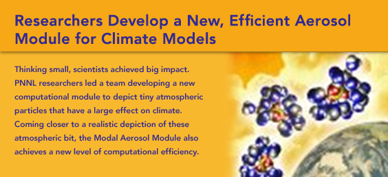 Researchers Develop a New, Efficient Aerosol Module for Climate Models