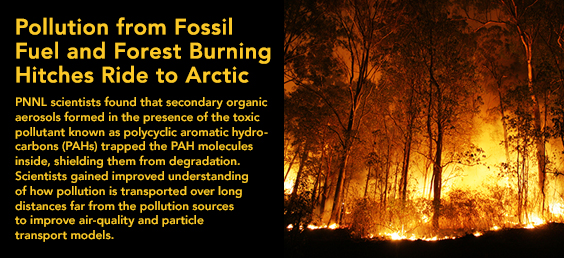 Pollution from Fossil Fuel and Forest Burning Hitches Ride to Arctic