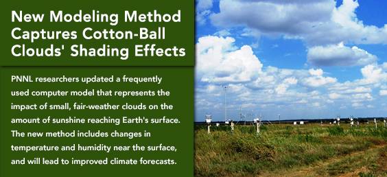 New Modeling Method Captures Cotton-Ball Clouds' Shading Effects