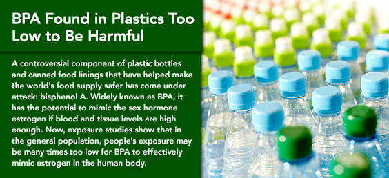 BPA Found in Plastics Too Low to Be Harmful