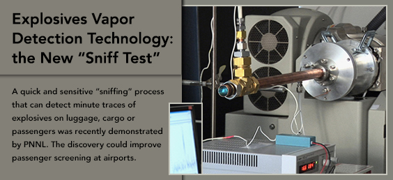 Explosives Vapor Detection Technology: the New Sniff Test