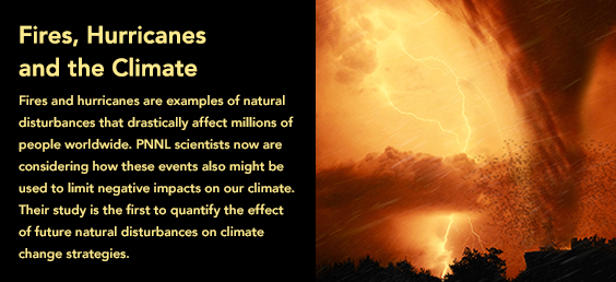 Fires, Hurricanes and the Climate
