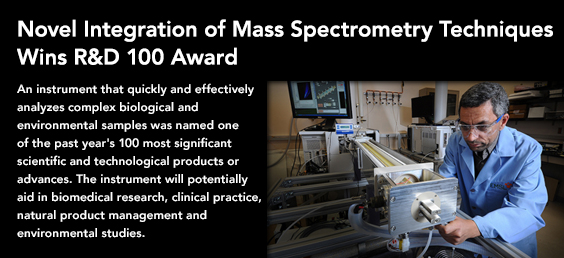 Mass Spectrometry Techniques Wins R&D 100 Award