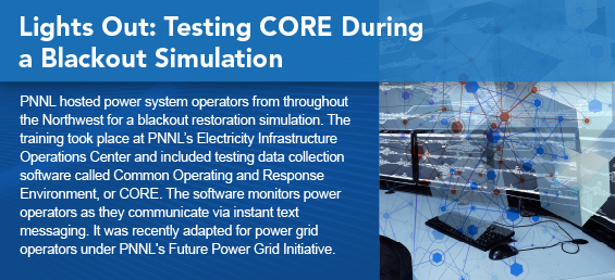 Lights Out: Testing CORE During a Blackout Simulation