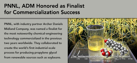 ADM Honored as Finalist for Commercialization Success