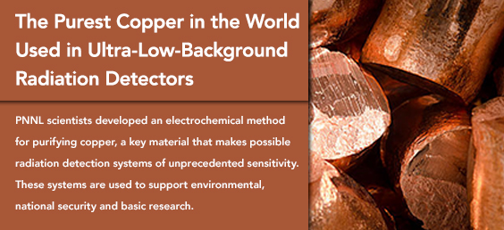 Purest Copper Used in Ultra-Low-Background Radiation Detectors