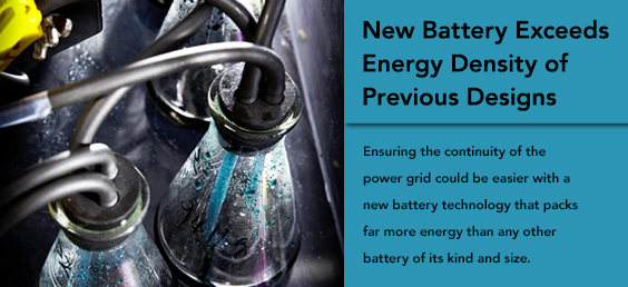 New Battery Exceeds Energy Density of Previous Designs
