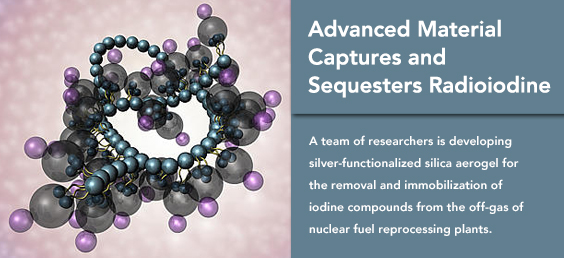 Advanced Material Captures and Sequesters Radioiodine