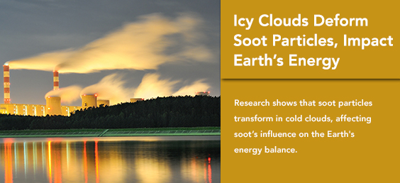Icy Clouds Deform Soot Particles, Impact Earth's Energy