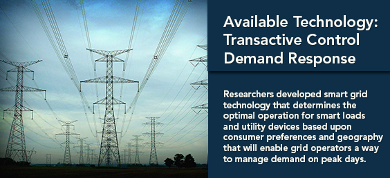 Available Technology: Transactive Control Demand Response