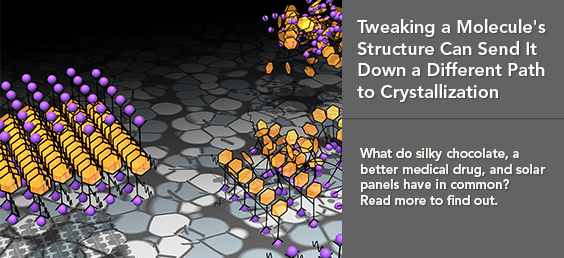 Tweaking a Molecule's Structure Can Send It Down a Different Path to Crystallization
