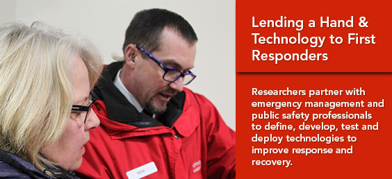 Lending a Hand and Technology to First Responders