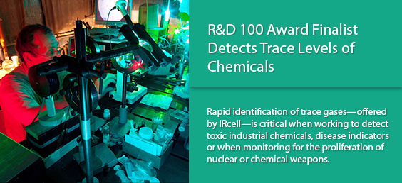 R&D 100 Award Finalist Detects Trace Levels of Chemicals