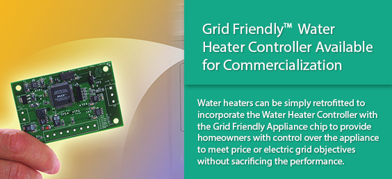 Grid FriendlyTM Water Heater Controller Available for Commercialization