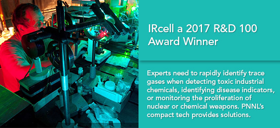 IRcell Nominated 2017 R&D 100 Award Finalist