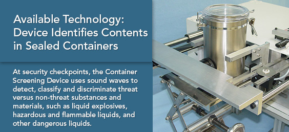 Available Technology: Device Identifies Contents in Sealed Containers