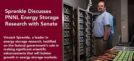 Sprenkle Discusses PNNL Energy Storage Research with Senate