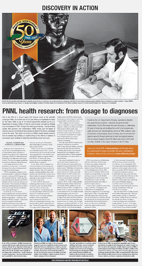 PNNL health research: from dosage to diagnoses
