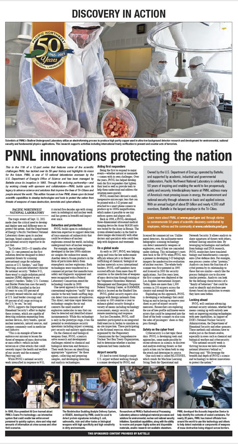 PNNL innovations protecting the nation