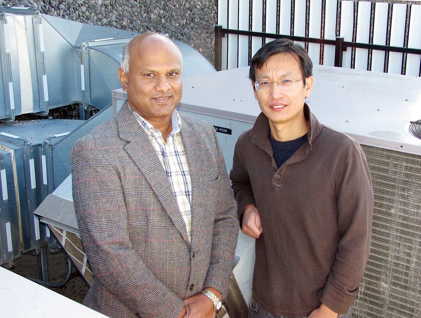Srinivas Katipamula (left) and Weimin Wang