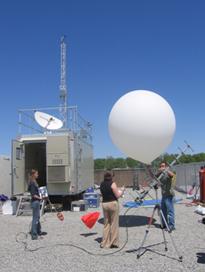Researchers prepare to launch ozonesonde