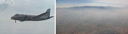 Aircraft and aerial photo