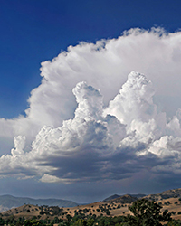 anvil and cumulus convective clouds