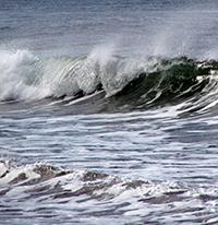 ocean waves and sea spray