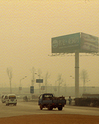 dust and pollution mix in Beijing's suburbs