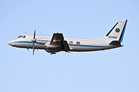 The G-1 research aircraft takes off