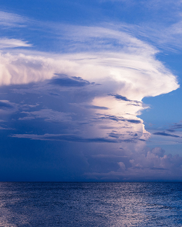 cloud formation over the sea
