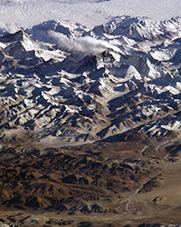 space station picture of Himalayas