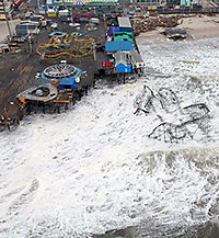 Hurricane Sandy devastated the New Jersey shoreline.