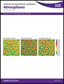 December 2014 cover of JGR Atmospheres