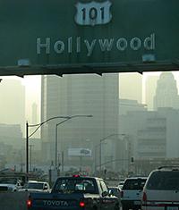 LA smog and highway