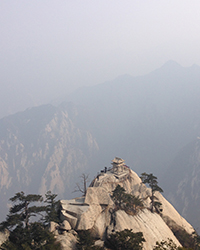 teahouse on top of Mt. Hua in China