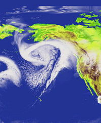 Pacific storm track simulation