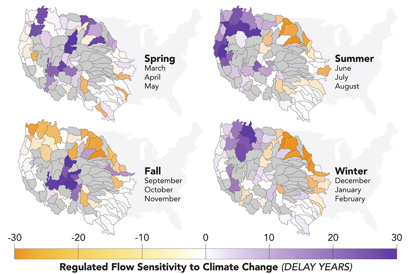seasonal emergence of change in flow regimes