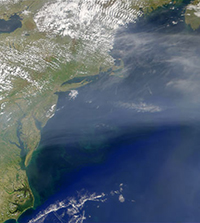 TCAP aerosol plume off NE US coast