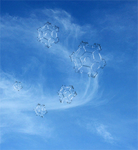 conceptual ice particles in cirrus clouds