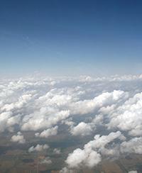 cumulus humilis clouds over Oklahoma.