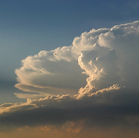 Deep storm cloud system photo